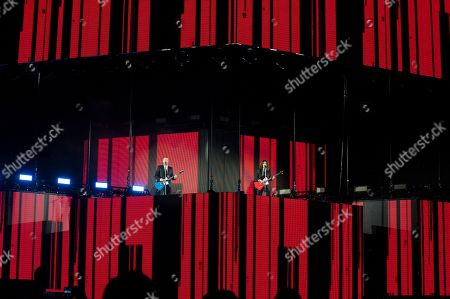 Laura Pausini and Biagio Antonacci at the Olympic Stadium