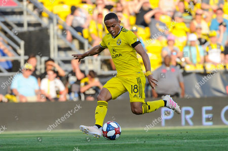 Columbus Crew SC forward Robinho (18) in the first half of the match between Orlando City and Columbus Crew SC at MAPFRE Stadium, in Columbus OH. Mandatory Photo Credit: Dorn Byg/Cal Sport Media. ..Orlando City 1 - Columbus Crew SC 0 after the first half