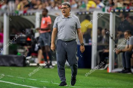 Mexico head coach Gerardo Martino during the 2nd half of a CONCACAF Gold Cup quarterfinals soccer match between Costa Rica and Mexico at NRG Stadium in Houston, TX. Mexico won on penalty kicks 1-1 (5-4)