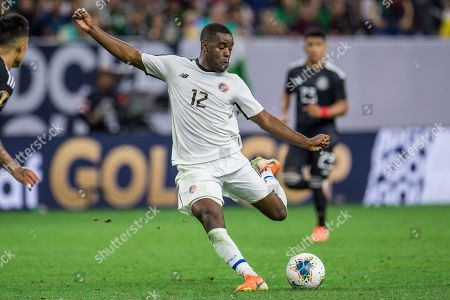 Costa Rica forward Joel Campbell (12) controls the ball during the extra time period of a CONCACAF Gold Cup quarterfinals soccer match between Costa Rica and Mexico at NRG Stadium in Houston, TX. Mexico won on penalty kicks 1-1 (5-4)
