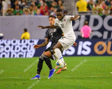 Costa Rica forward, Joel Campbell (12), brings the ball under control during the CONCACAF Gold Cup, quarter final match between Mexico and Costa Rica, at NRG Stadium in Houston, TX. Mandatory Credit: Kevin Langley/Sports South Media/CSM