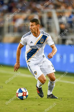 Los Angeles Galaxy defender Daniel Steres (5) in action during the MLS game between Los Angeles Galaxy and the San Jose Earthquakes at Avaya Stadium in San Jose, California