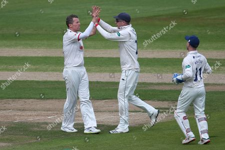 Peter Siddle of Essex celebrates taking the wicket of Joe Clarke during Nottinghamshire CCC vs Essex CCC, Specsavers County Championship Division 1 Cricket at Trent Bridge on 30th June 2019