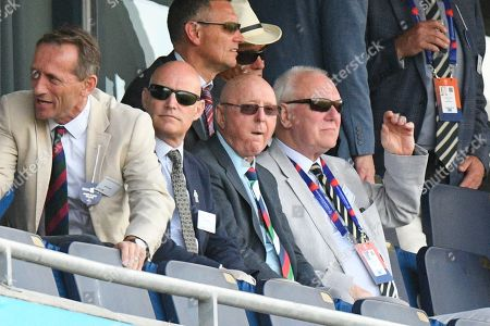Stock Image of Comedian Jasper Carrott watching the game during the ICC Cricket World Cup 2019 match between England and India at Edgbaston, Birmingham