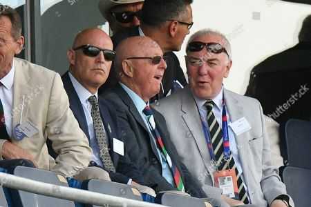 Stock Photo of Comedian Jasper Carrott watching the game during the ICC Cricket World Cup 2019 match between England and India at Edgbaston, Birmingham