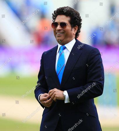 Sachin Tendulkar attends the game