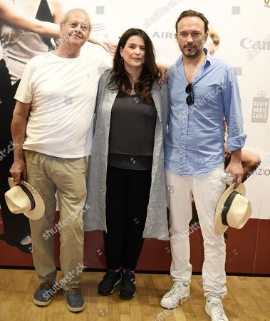 Australian filmmaker and Oscar-winner for his movie 'Driving Miss Daisy' (1989), Bruce Beresford (L), British actress Julia Ormond (C) and Swiss actor Vincent Perez (R) pose during a photo call for the movie 'Ladies in Black' during the 65th annual Taormina Film Festival, Taormina Sicily Island, Italy, 30 June 2019. The festival runs from 30 to 06 July.