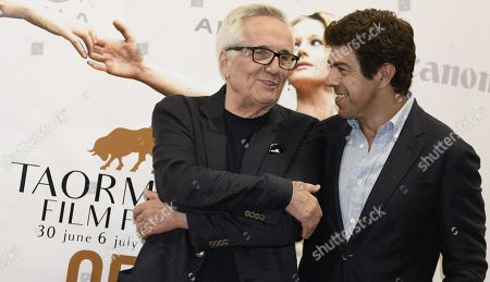 Marco Bellocchio (L) and Italian actor Pierfrancesco Favino pose during a photocall at the 65th annual Taormina Film Festival, in Taormina, Sicily Island, Italy, 30 June 2019. The festival runs from 30 June to 06 July.