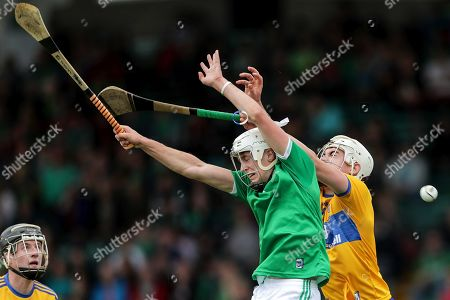 Stock Image of Clare vs Limerick. Limerick's Jimmy Quilty and Killian O'Connor of Clare