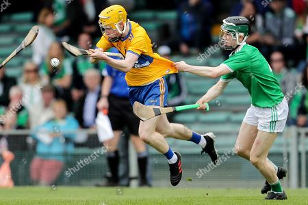 Clare vs Limerick. Clare's Shane Meehan and Fergal O'Connor of Limerick