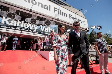 Casey Affleck and his girlfriend Floriana Lima arrive for the presentation of the film 'Light of My Life' at the 54th Karlovy Vary International Film Festival, in Karlovy Vary, Czech Republic, 30 June 2019. The festival runs from 28 June to 06 July.