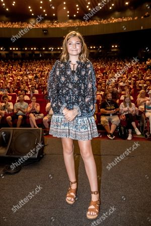Anna Pniowsky poses for photographers during the presentation of the film 'Light of My Life' at the 54th Karlovy Vary International Film Festival, in Karlovy Vary, Czech Republic, 30 June 2019. The festival runs from 28 June to 06 July.