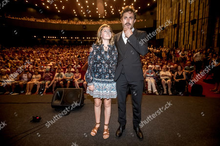 Casey Affleck and Canadian actress Anna Pniowsky pose for photographers during the presentation of the film 'Light of My Life' at the 54th Karlovy Vary International Film Festival, in Karlovy Vary, Czech Republic, 30 June 2019. The festival runs from 28 June to 06 July.