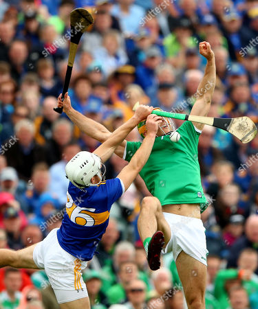 Tipperary vs Limerick. Tipperary's Niall O'Meara and Dan Morrissey of Limerick