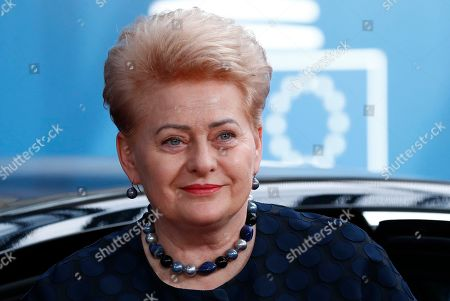 Lithuania's President Dalia Grybauskaite during arrivals for a Special European Council in Brussels, Belgium, 30 June 2019. Heads of states or governments from EU member states meet to continue discussions on the possible candidates for the heads of EU institutions, namely European Council President, President of the European Commission, High Representative of the Union for Foreign Affairs and Security Policy (Foreign Policy Chief), and President of the European Central Bank.