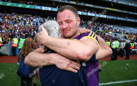 Kilkenny vs Wexford. Wexford's Matthew O'Hanlon celebrates with Michael Collins after the game