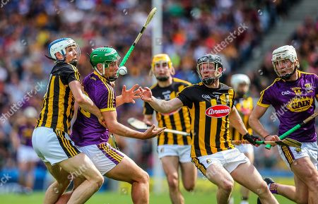Stock Picture of Kilkenny vs Wexford. Kilkenny's Huw Lawlor and Enda Morrissey with Conor McDonald of Wexford