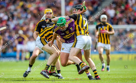 Kilkenny vs Wexford. Kilkenny's Huw Lawlor and Enda Morrissey with Conor McDonald of Wexford