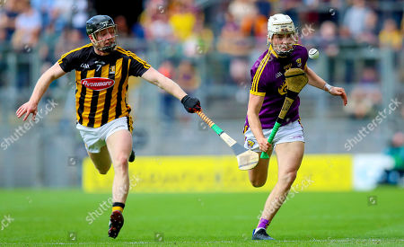 Kilkenny vs Wexford. Kilkenny's Enda Morrissey with Rory O'Connor of Wexford