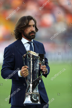 Andrea Pirlo with the European Under-21 trophy