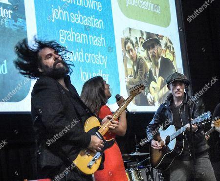 Fernando Perdomo, Jade Castrinos and Executive Producer Jakob Dylan