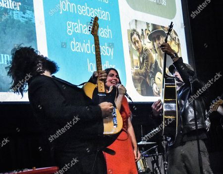 Stock Picture of Fernando Perdomo, Jade Castrinos and Executive Producer/Singer/Songwriter Jakob Dylan