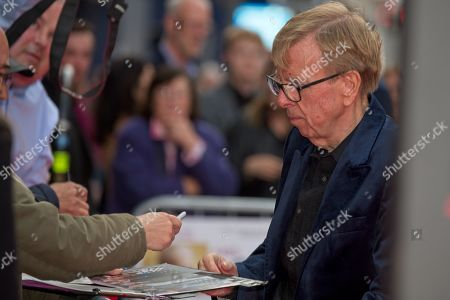 Timothy Spall signing autographs for fans