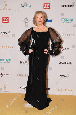 Rebecca Gibney arrives at the 2019 Logie Awards at The Star Casino on the Gold Coast, Australia, 30 June 2019. ( )