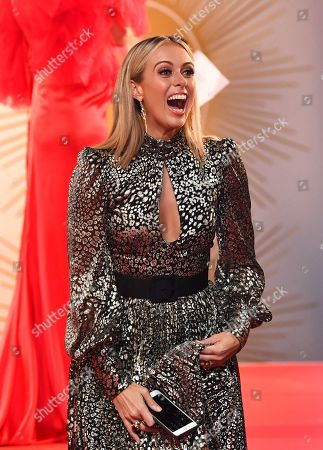 Sylvia Jeffreys is seen on the red carpet at the 2019 Logie Awards at The Star Casino on the Gold Coast, Australia, 30 June 2019. ( )