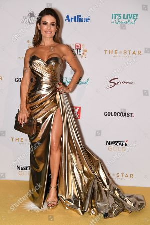 Stock Image of Ada Nicodemou arrives at the 2019 Logie Awards at The Star Casino on the Gold Coast, Australia, 30 June 2019. ( )