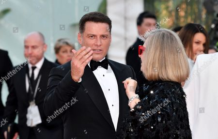 Karl Stefanovic (centre) is seen on the red carpet at the 2019 Logie Awards at The Star Casino on the Gold Coast, Australia, 30 June 2019. ( )