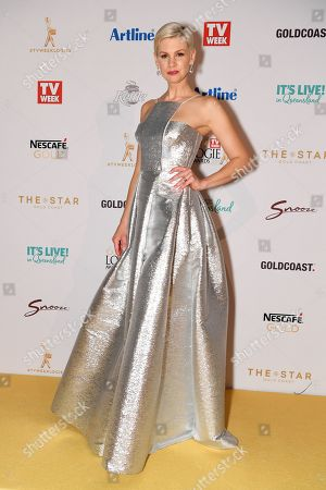 Stock Image of Kate Peck arrives at the 2019 Logie Awards at The Star Casino on the Gold Coast, Australia, 30 June 2019. ( )