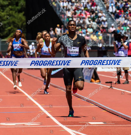Stanford, CA : Caster Semenya wins the women's 800 Meters during the Nike Prefontaine Classic at Stanford University Palo Alto, CA. Thurman James / CSM