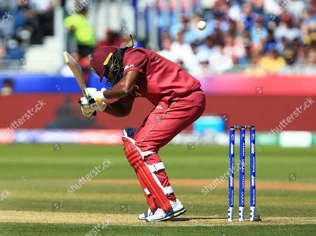 Chris Gayle of West Indies batting