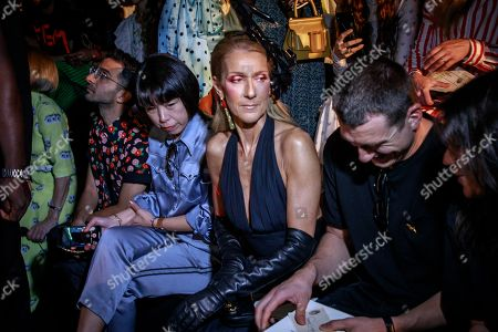 Canadian singer Celine Dion (C) with Pepe Munoz (R) attend the Fall/Winter 2019/20 Haute Couture collection by US designer Daniel Roseberry for Schiaparelli fashion house during the Paris Fashion Week, in Paris, France, 01 July 2019. The presentation of the Haute Couture collections runs from 30 June to 04 July.