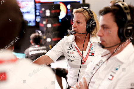 Motorsports: FIA Formula One World Championship 2019, Grand Prix of Austria,  Britta Seeger (GER, Member of the Board of Management of Daimler AG), Toto Wolff (AUT, Mercedes AMG Petronas Motorsport),