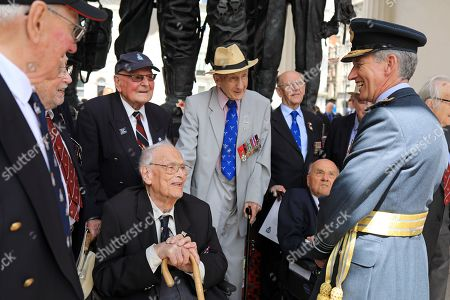Editorial photo of RAF Benevolent Fund service at the Bomber Command Memorial, London, UK - 30 Jun 2019