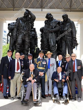 Editorial picture of RAF Benevolent Fund service at the Bomber Command Memorial, London, UK - 30 Jun 2019