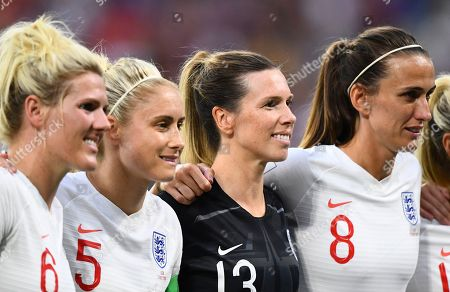 L-r Millie Bright, Steph Houghton, Carly Telford and Jill Scott of England