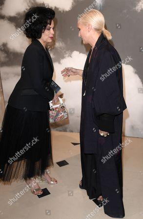 Bianca Jagger and Maria Grazia Chiuri in the front row