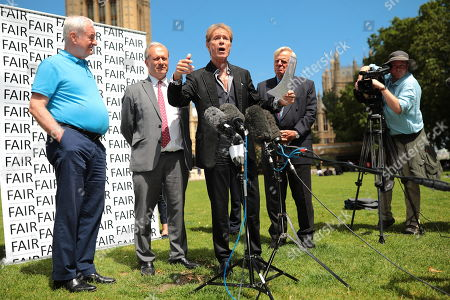 Sir Cliff Richard joins Paul Gambaccini and others at the launch of a campaign calling for a ban on naming sex crime suspects unless they have been charged.