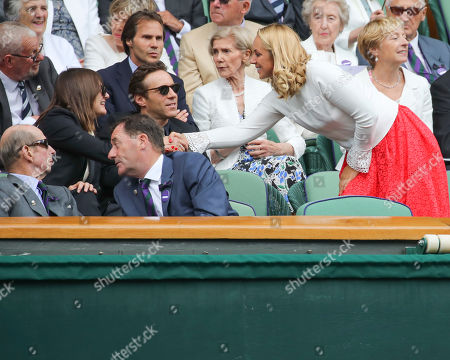 Emily Mortimer with Alessandro Nivola and Sabine Lisicki on Centre Court