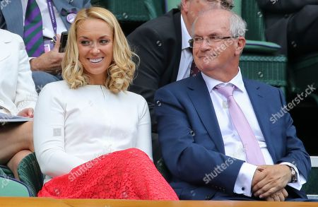 Stock Photo of Sabine Lisicki and Father Richard on Centre Cou