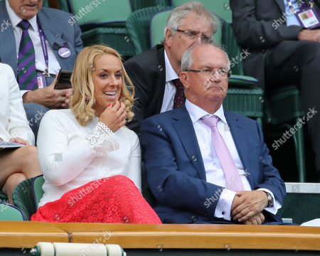 Stock Picture of Sabine Lisicki and Father Richard on Centre Court
