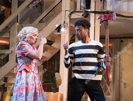 Stock Photo of Enyi Okoronkwo as Tim, Debra Gillett as Belinda