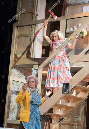 Editorial image of 'Noises Off' Play performed at the Lyric Theatre, Hammersmith, UK - 01 Jul 2019