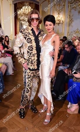 Editorial picture of Christophe Josse show, Front Row,Fall Winter 2019, Haute Couture Fashion Week, Paris, France - 30 Jun 2019