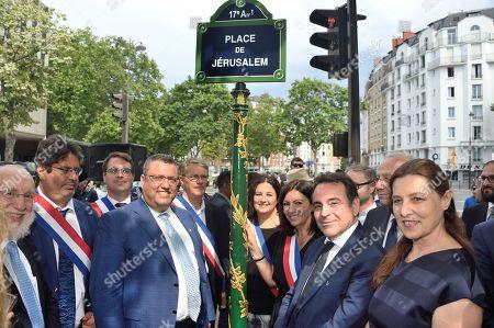 Editorial photo of Inauguartion of 'La Place de Jerusalem', Paris, France - 30 Jun 2019