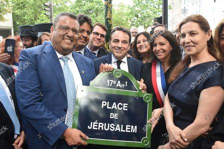 Moshe Lion, Geoffroy Boulard, Joel Mergui and Anne Hidalgo