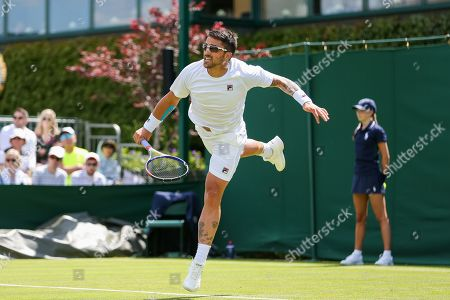 Janko Tipsarevic of Serbia during the men's singles first round match